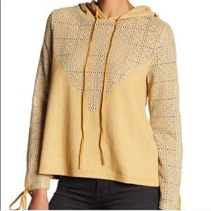 NWT ANAMA Anthropologie Mustard Hoodie Sweater